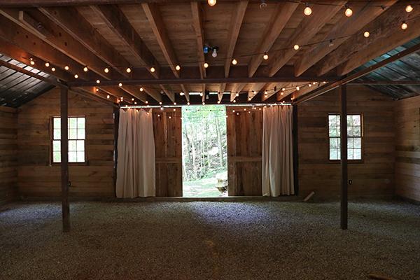 barn interior daytime