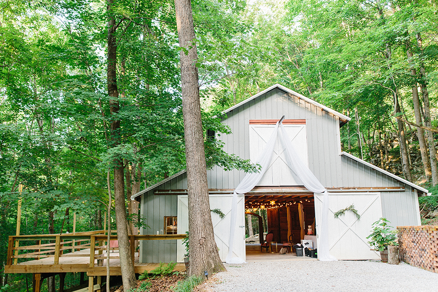 barn forest mountain wedding venue