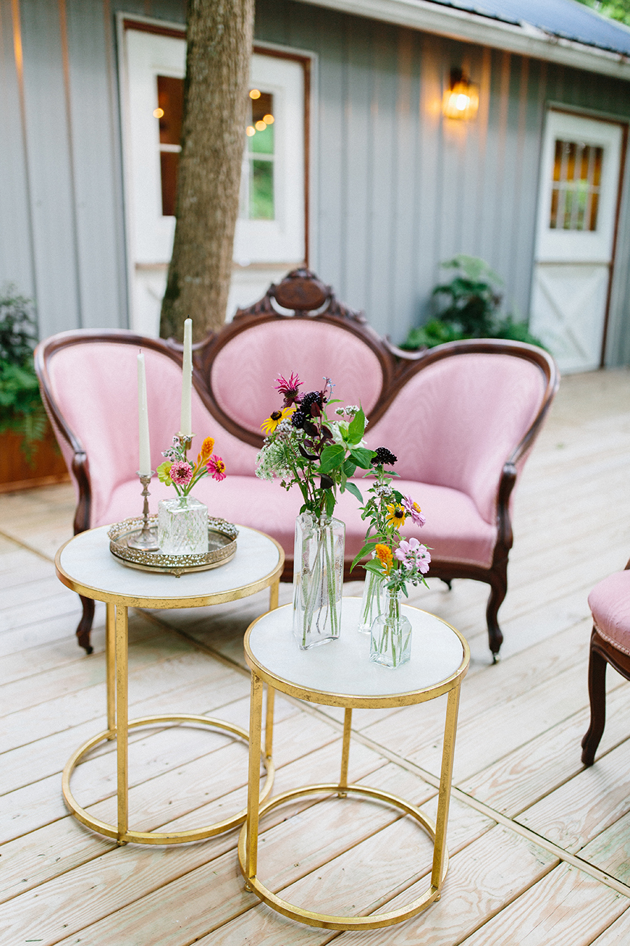 vintage furniture wedding marble outdoor