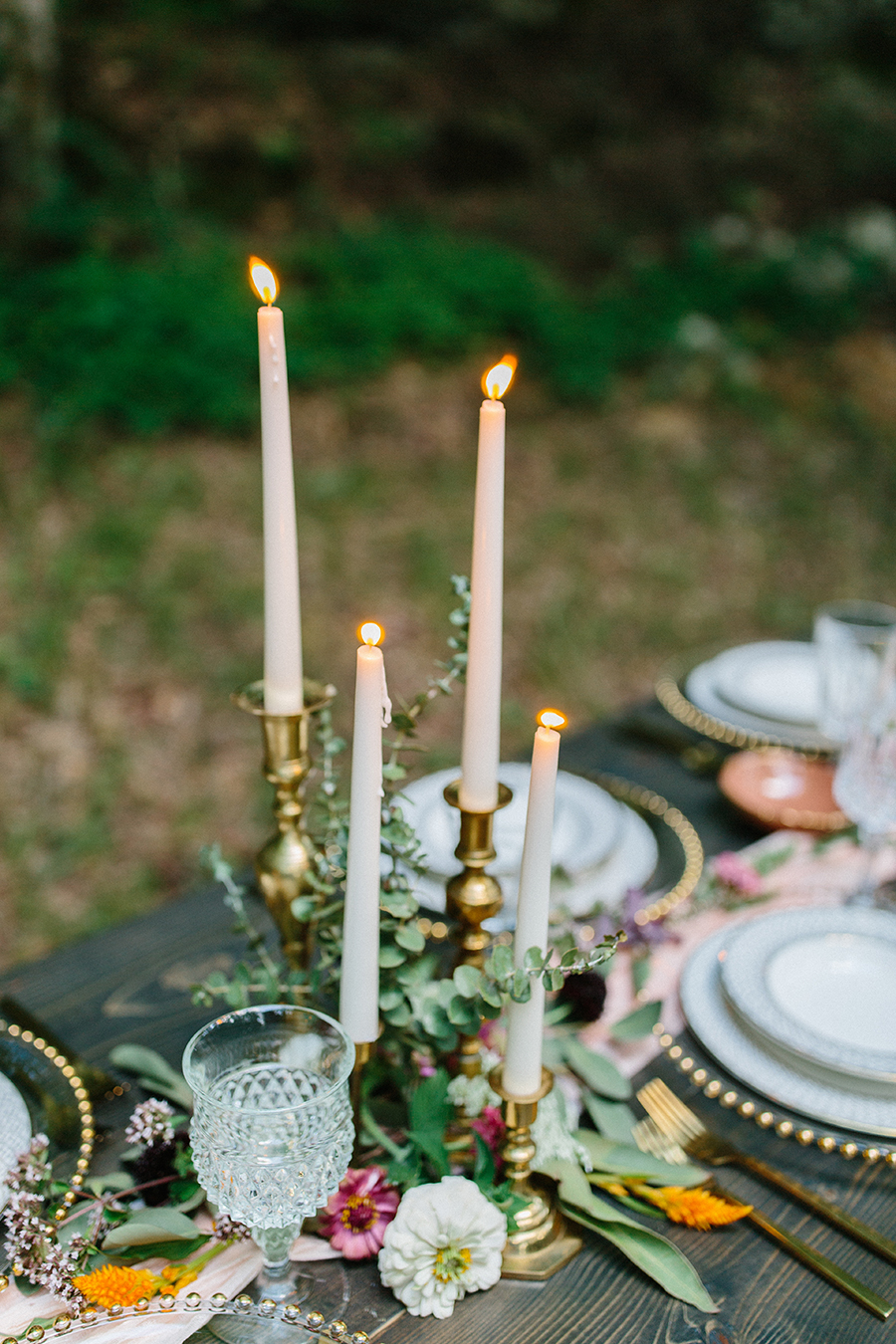 wedding table head table outdoor